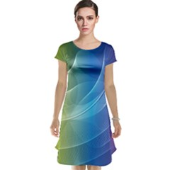Colorful Guilloche Spiral Pattern Background Cap Sleeve Nightdress