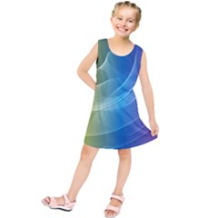 Colorful Guilloche Spiral Pattern Background Kids  Tunic Dress