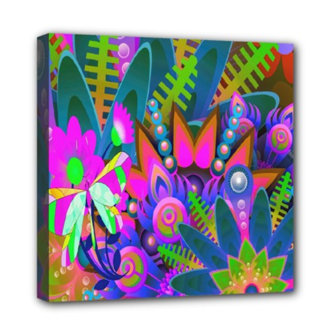 Wild Abstract Design Mini Canvas 8  X 8  by Simbadda