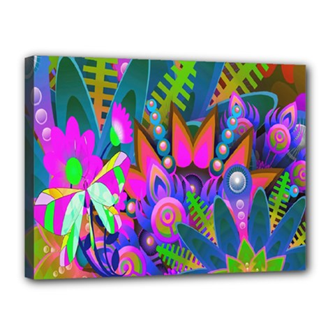 Wild Abstract Design Canvas 16  X 12  by Simbadda