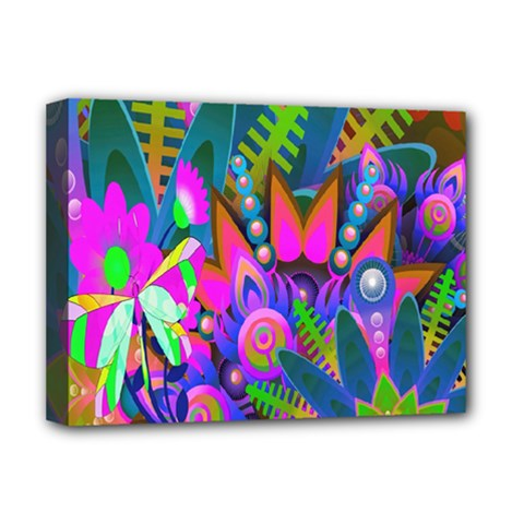 Wild Abstract Design Deluxe Canvas 16  X 12   by Simbadda