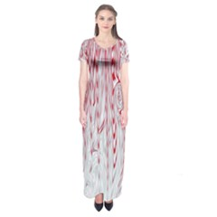 Abstract Swirling Pattern Background Wallpaper Pattern Short Sleeve Maxi Dress