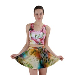 Abstract Color Splash Background Colorful Wallpaper Mini Skirt by Simbadda