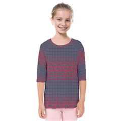 Abstract Tiling Pattern Background Kids  Quarter Sleeve Raglan Tee