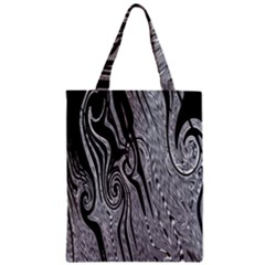 Abstract Swirling Pattern Background Wallpaper Zipper Classic Tote Bag by Simbadda