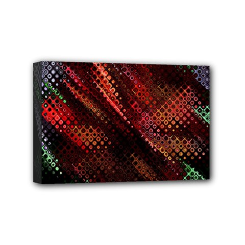 Abstract Green And Red Background Mini Canvas 6  X 4