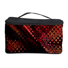Abstract Green And Red Background Cosmetic Storage Case by Simbadda