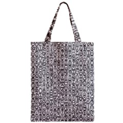 Abstract Knots Background Design Pattern Zipper Classic Tote Bag by Simbadda