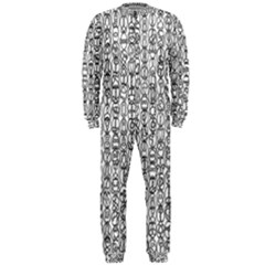 Abstract Knots Background Design Pattern Onepiece Jumpsuit (men)