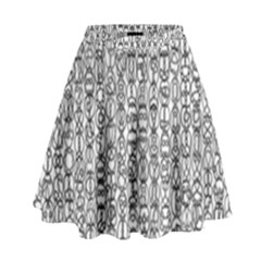 Abstract Knots Background Design Pattern High Waist Skirt by Simbadda