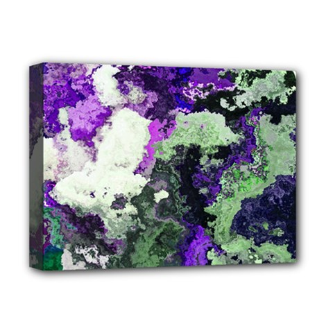Background Abstract With Green And Purple Hues Deluxe Canvas 16  X 12