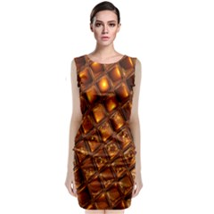 Caramel Honeycomb An Abstract Image Classic Sleeveless Midi Dress