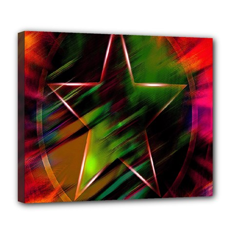 Colorful Background Star Deluxe Canvas 24  X 20   by Simbadda