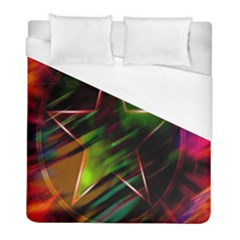 Colorful Background Star Duvet Cover (full/ Double Size) by Simbadda