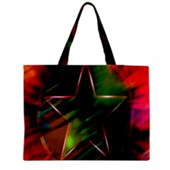 Colorful Background Star Medium Tote Bag by Simbadda