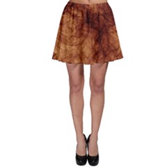Abstract Brown Smoke Skater Skirt by Simbadda