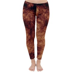 Abstract Brown Smoke Classic Winter Leggings