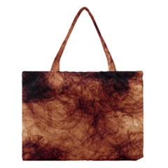 Abstract Brown Smoke Medium Tote Bag by Simbadda