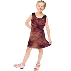 Abstract Brown Smoke Kids  Tunic Dress