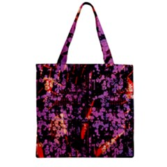 Abstract Painting Digital Graphic Art Zipper Grocery Tote Bag by Simbadda