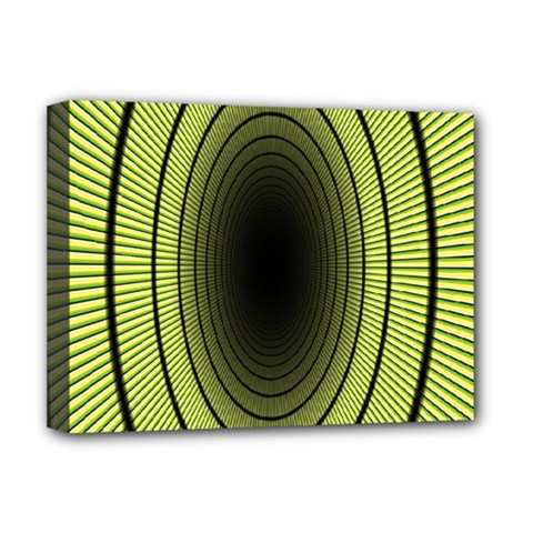 Spiral Tunnel Abstract Background Pattern Deluxe Canvas 16  X 12