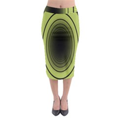 Spiral Tunnel Abstract Background Pattern Midi Pencil Skirt by Simbadda