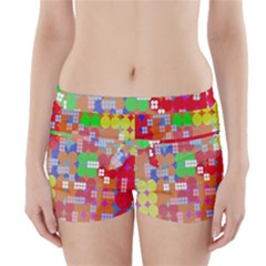 Abstract Polka Dot Pattern Digitally Created Abstract Background Pattern With An Urban Feel Boyleg Bikini Wrap Bottoms