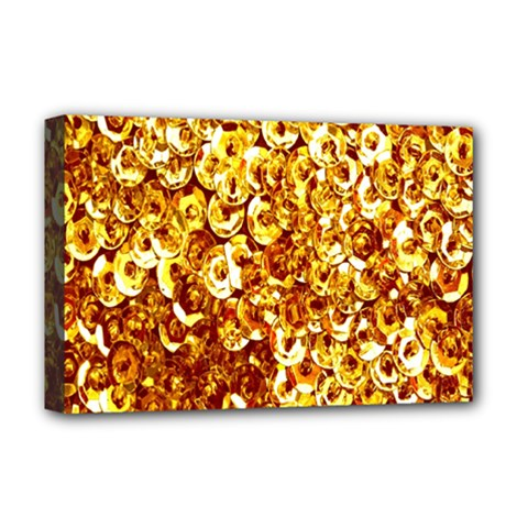 Yellow Abstract Background Deluxe Canvas 18  X 12