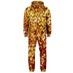 Yellow Abstract Background Hooded Jumpsuit (men)