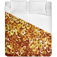Yellow Abstract Background Duvet Cover (california King Size) by Simbadda