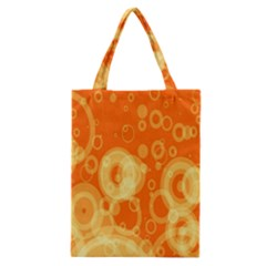 Retro Orange Circle Background Abstract Classic Tote Bag by Nexatart