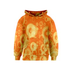 Retro Orange Circle Background Abstract Kids  Pullover Hoodie by Nexatart