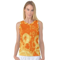 Retro Orange Circle Background Abstract Women s Basketball Tank Top by Nexatart