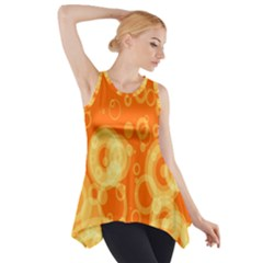 Retro Orange Circle Background Abstract Side Drop Tank Tunic by Nexatart