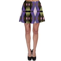 Geometric Abstract Background Art Skater Skirt by Nexatart