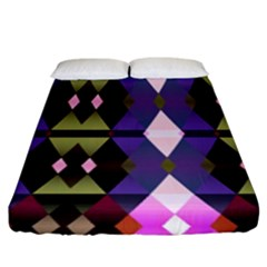 Geometric Abstract Background Art Fitted Sheet (king Size)