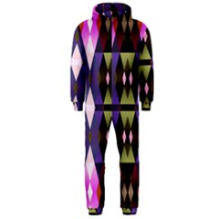 Geometric Abstract Background Art Hooded Jumpsuit (men)  by Nexatart