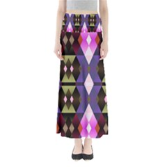 Geometric Abstract Background Art Maxi Skirts by Nexatart