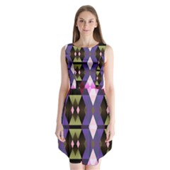 Geometric Abstract Background Art Sleeveless Chiffon Dress   by Nexatart