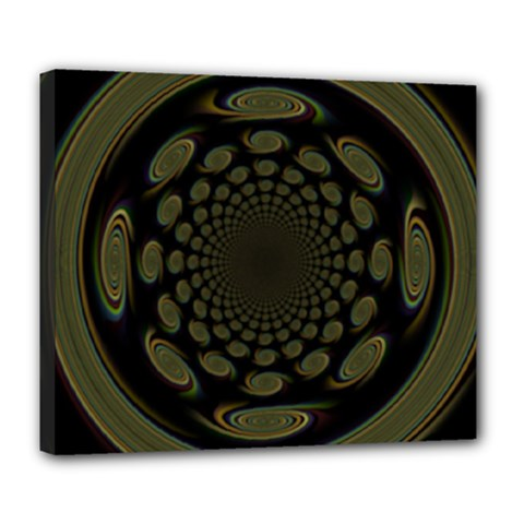 Dark Portal Fractal Esque Background Deluxe Canvas 24  X 20   by Nexatart
