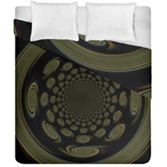 Dark Portal Fractal Esque Background Duvet Cover Double Side (california King Size) by Nexatart