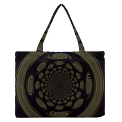 Dark Portal Fractal Esque Background Medium Zipper Tote Bag by Nexatart