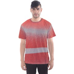 Orange Stripes Colorful Background Textile Cotton Cloth Pattern Stripes Colorful Orange Neo Men s Sport Mesh Tee by Nexatart