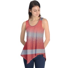 Orange Stripes Colorful Background Textile Cotton Cloth Pattern Stripes Colorful Orange Neo Sleeveless Tunic by Nexatart