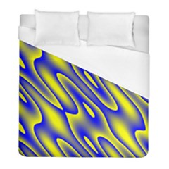 Blue Yellow Wave Abstract Background Duvet Cover (full/ Double Size) by Nexatart