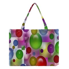 Colored Bubbles Squares Background Medium Tote Bag by Nexatart