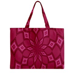 Fusia Abstract Background Element Diamonds Medium Tote Bag