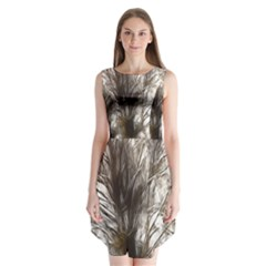 Tree Art Artistic Tree Abstract Background Sleeveless Chiffon Dress   by Nexatart