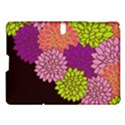 Floral Card Template Bright Colorful Dahlia Flowers Pattern Background Samsung Galaxy Tab S (10.5 ) Hardshell Case  View1