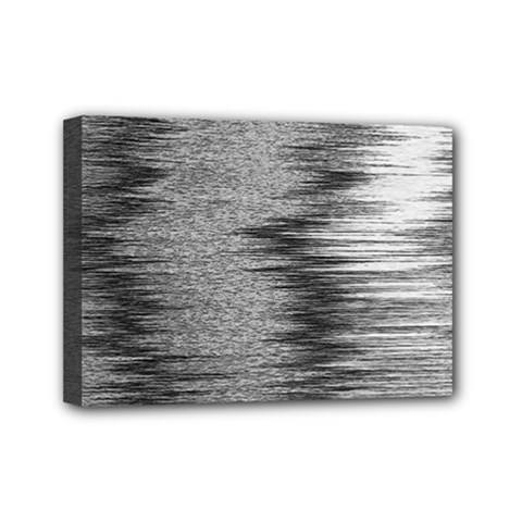 Rectangle Abstract Background Black And White In Rectangle Shape Mini Canvas 7  X 5